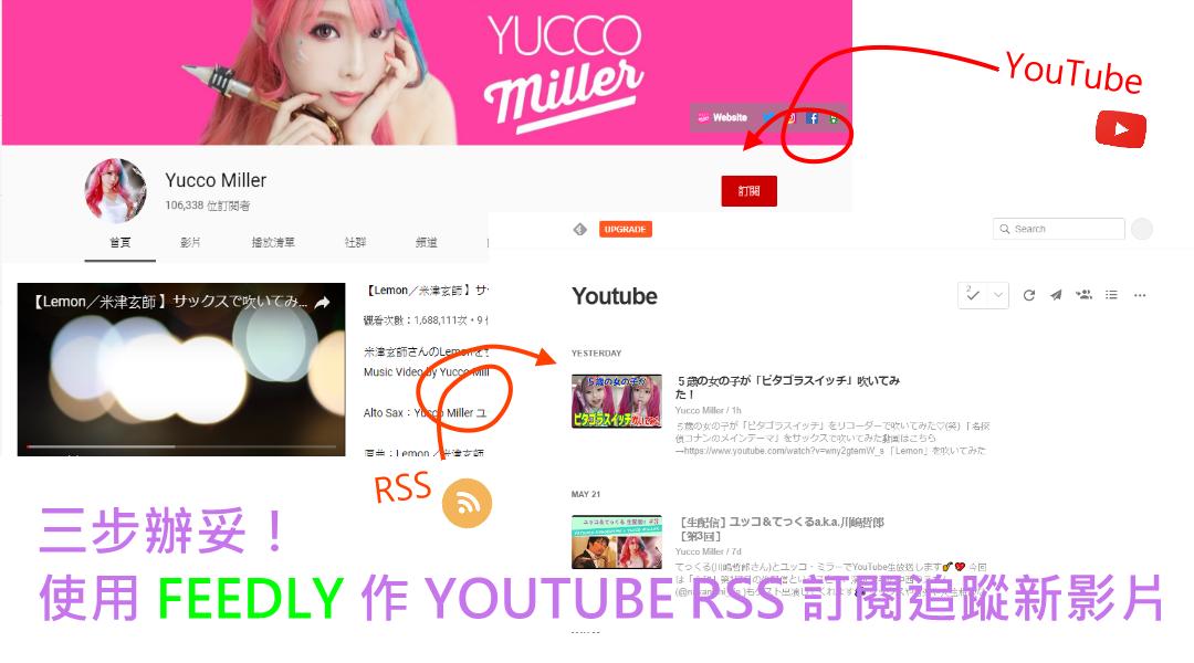 【YouTube RSS 訂閱】使用 Feedly 追蹤頻道新影片,三步就辦妥!