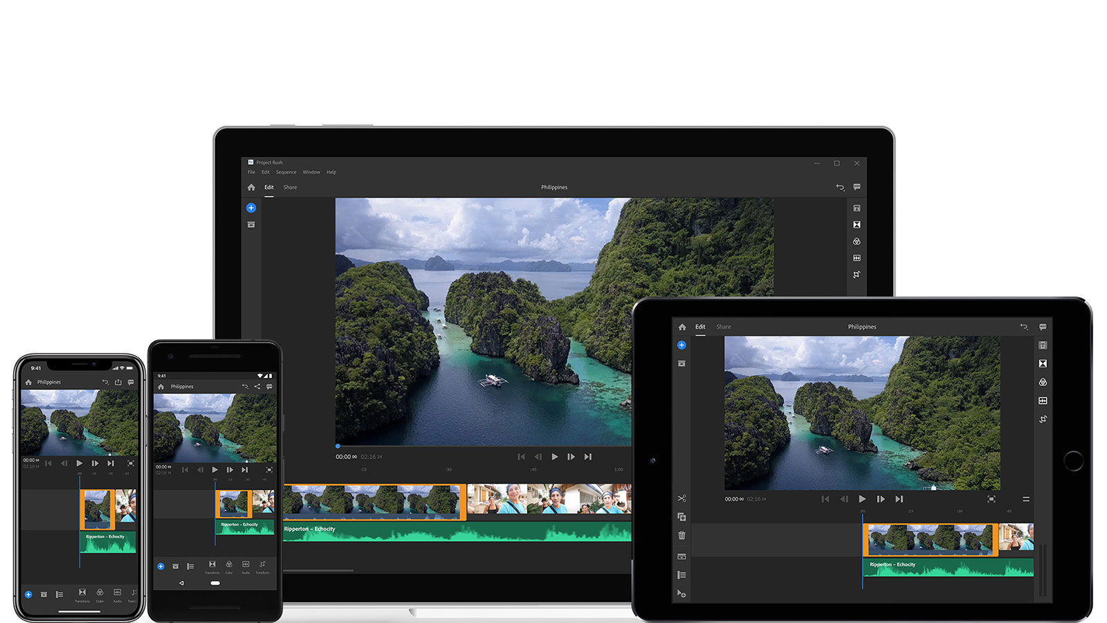 Android 版 Adobe Premiere Rush CC 推出,率先支援 Samsung 多款手機
