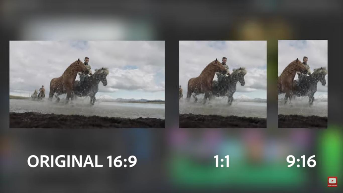 Adobe Premiere Pro 新增自動裁剪功能,可將影片自動生成正方形及直立式