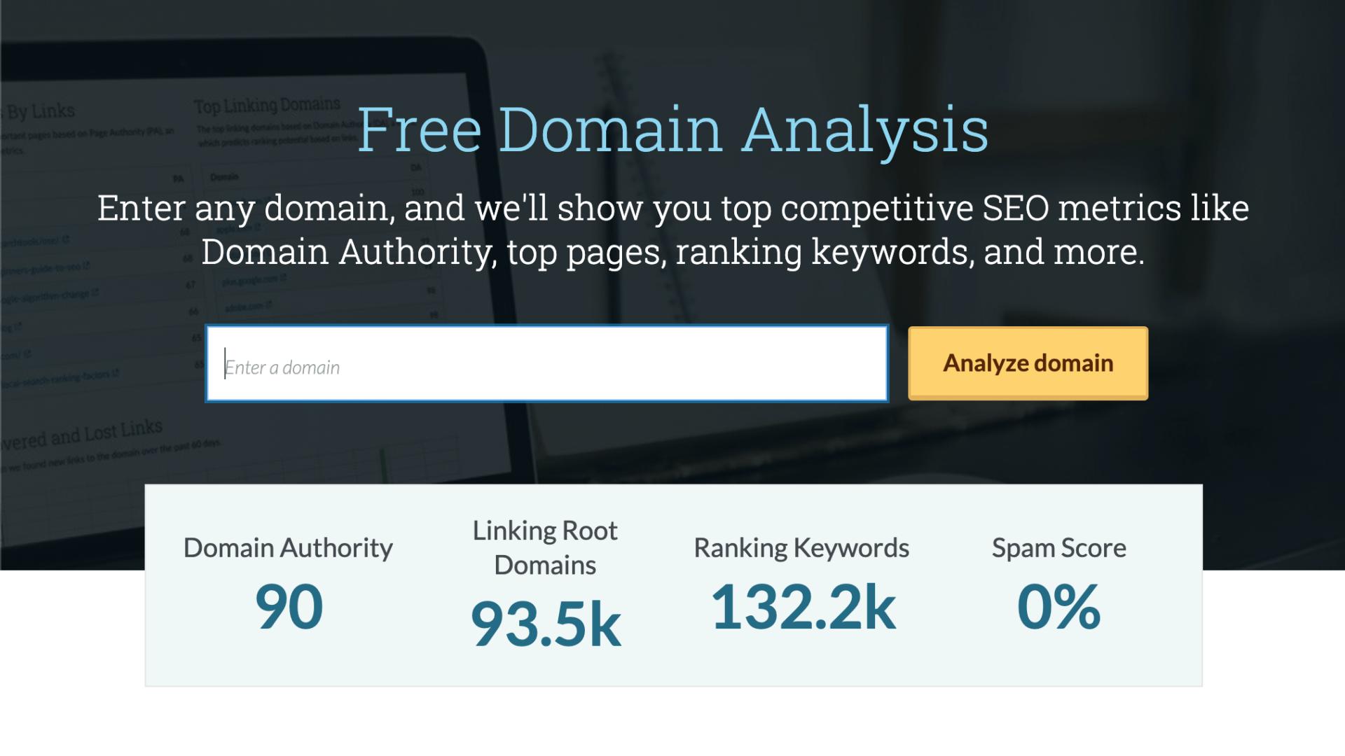 超佛心!MOZ 免費 SEO 工具 Domain Analysis 分析網域權威度及關鍵字分布