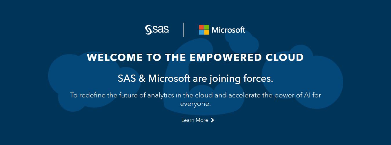Microsoft 與 SAS 達合作關係將與 Azure 更緊密接合