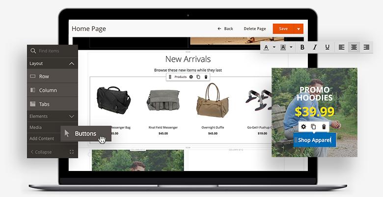 架設網店更簡單,Magento  Page Builder 整合 Adobe Sensei 輕易加入產品推薦功能