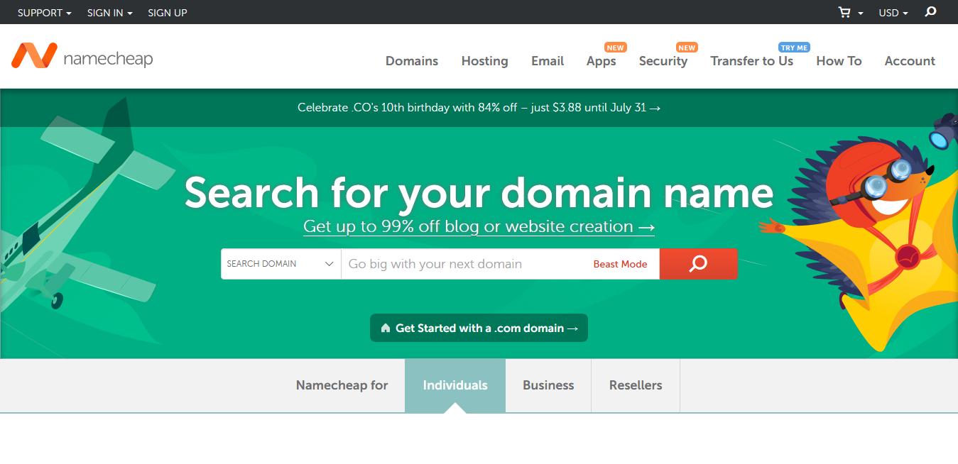 [Namecheap Promo Code] 域名轉移優惠!.com 一年 6.88 美元