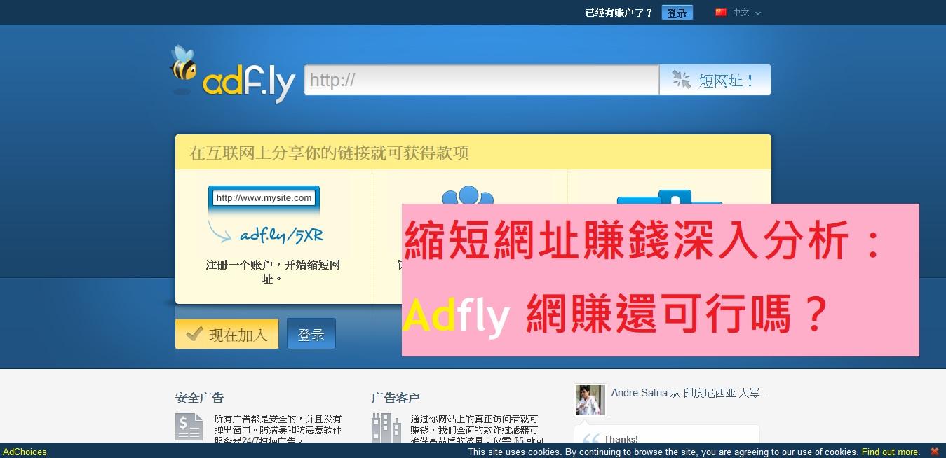 縮短網址賺錢深入分析 – Adfly 網賺還可行嗎?