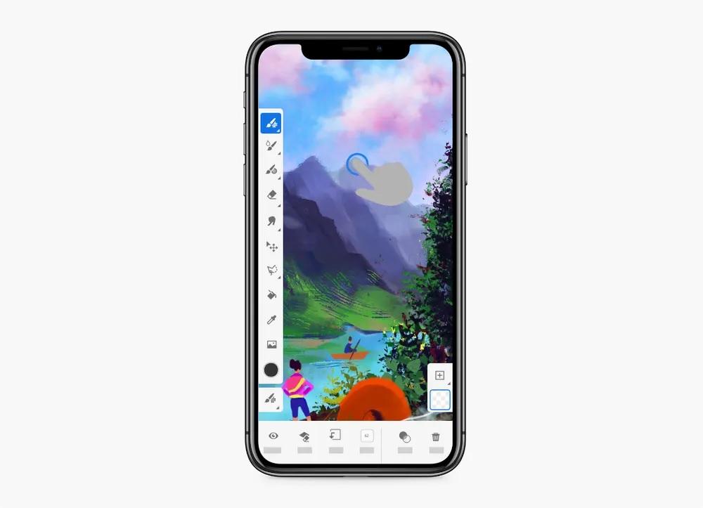 用指尖繪出精美水彩!Adobe Fresco 2.0 iPhone 版推出了!