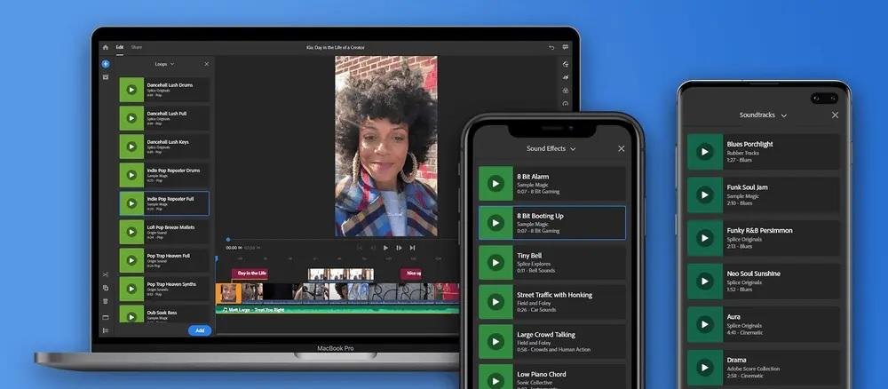 Adobe Premiere Rush 新功能!逾百免費音訊素材+三種新轉場方式