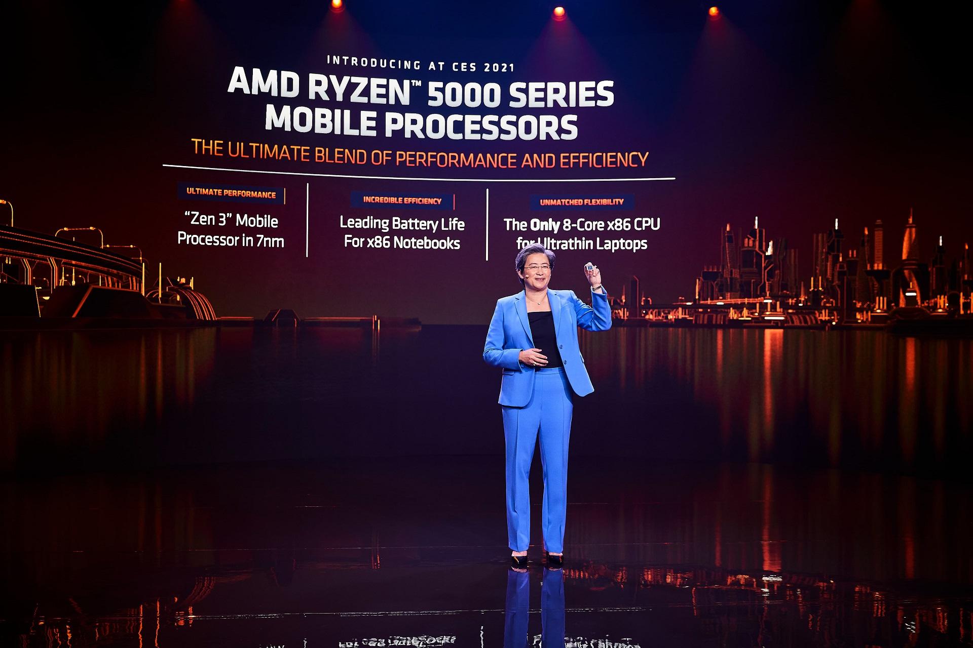 AMD Ryzen 5000 系列筆電處理器面世 ASUS、HP 等先採用
