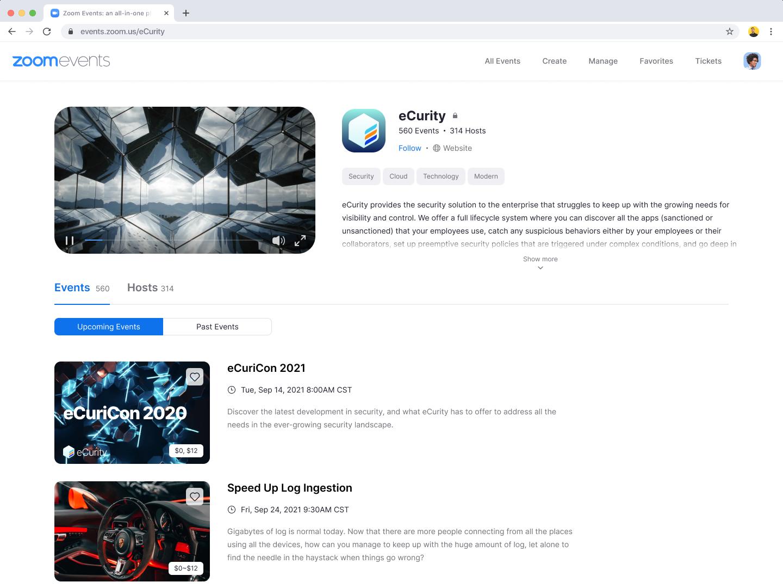 Zoom 推一站式線上活動平台 Zoom Events 增強互動體驗