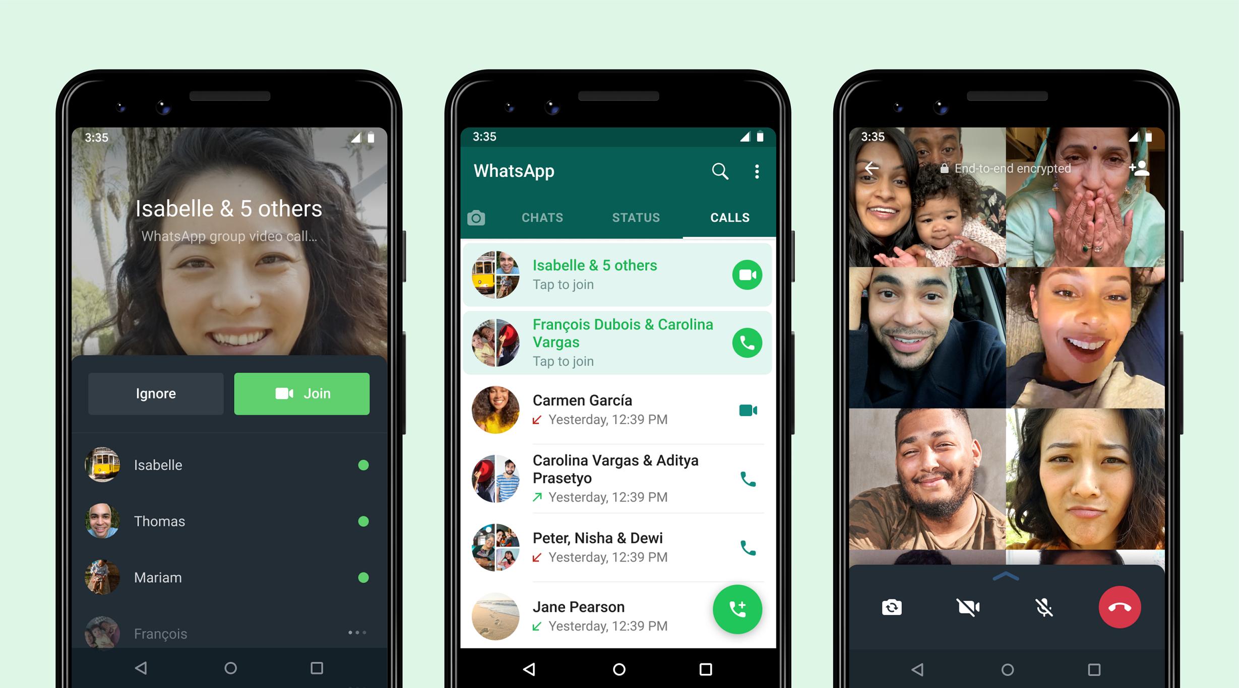 WhatsApp 增新功能,群組通話可隨時退出及參與